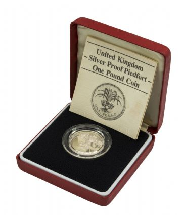 1985 Silver Proof Piedfort One Pound